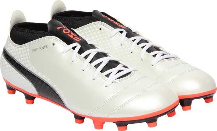 11de395e63e Puma ONE 17.4 FG Football Shoes For Men - Buy Puma White-Puma Black ...