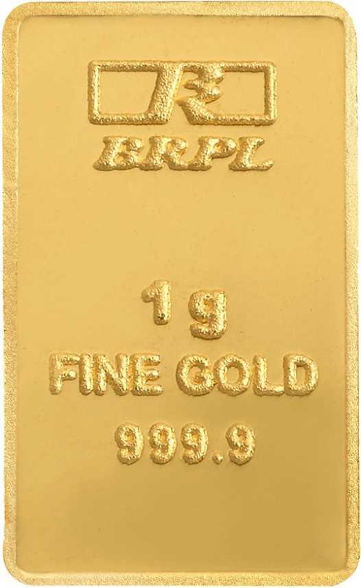 Bangalore Refinery 1g Gold Bar 24 9999