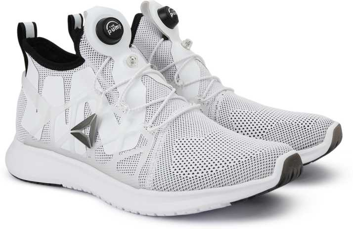 fd025b5f8123 REEBOK PUMP PLUS CAGE Running Shoes For Men - Buy WHITE BLACK Color ...