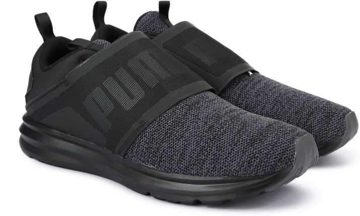 Agricultura Ruidoso Pef  Puma Enzo Strap Knit Running Shoes For Men - Buy Puma Black-Asphalt Color Puma  Enzo Strap Knit Running Shoes For Men Online at Best Price - Shop Online  for Footwears in India