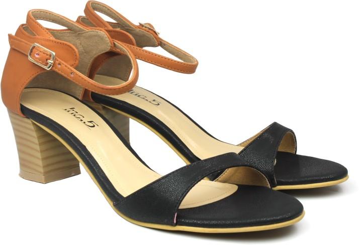 Inc.5 Women Black Heels - Buy Inc.5