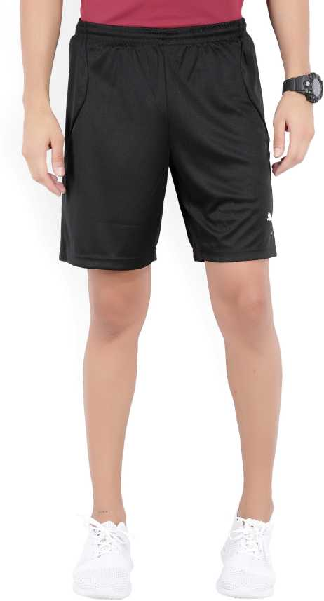5a85bbceb Puma Solid Men s Black Sports Shorts - Buy Puma Black-Puma White Puma Solid  Men s Black Sports Shorts Online at Best Prices in India