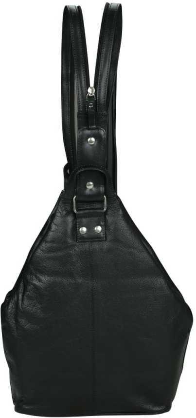 ab5f93abc9 Kan Best Offer-100% Genuine Leather Smart Elegant Backpack for Men   Women  12 L Backpack Black - Price in India