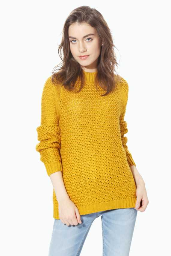 5e99a2d3904 People Solid Turtle Neck Casual Women Yellow Sweater - Buy People Solid  Turtle Neck Casual Women Yellow Sweater Online at Best Prices in India