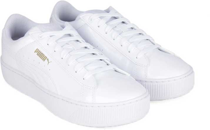 b0bde4472f64 Puma Puma Vikky Platform Patent Sneakers For Women - Buy Puma White ...