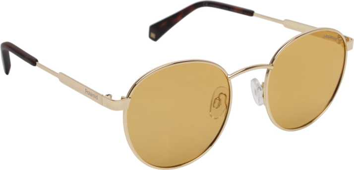 7f89bc2491 Buy Polaroid Round Sunglasses Yellow For Women Online   Best Prices in  India