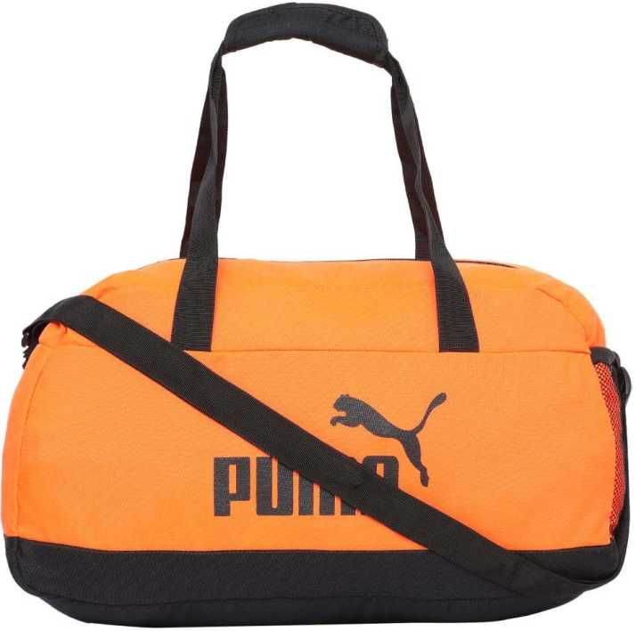 Puma Phase Sport Bag Travel Duffel Bag Shocking Orange-Black - Price ... 04d73cba66905