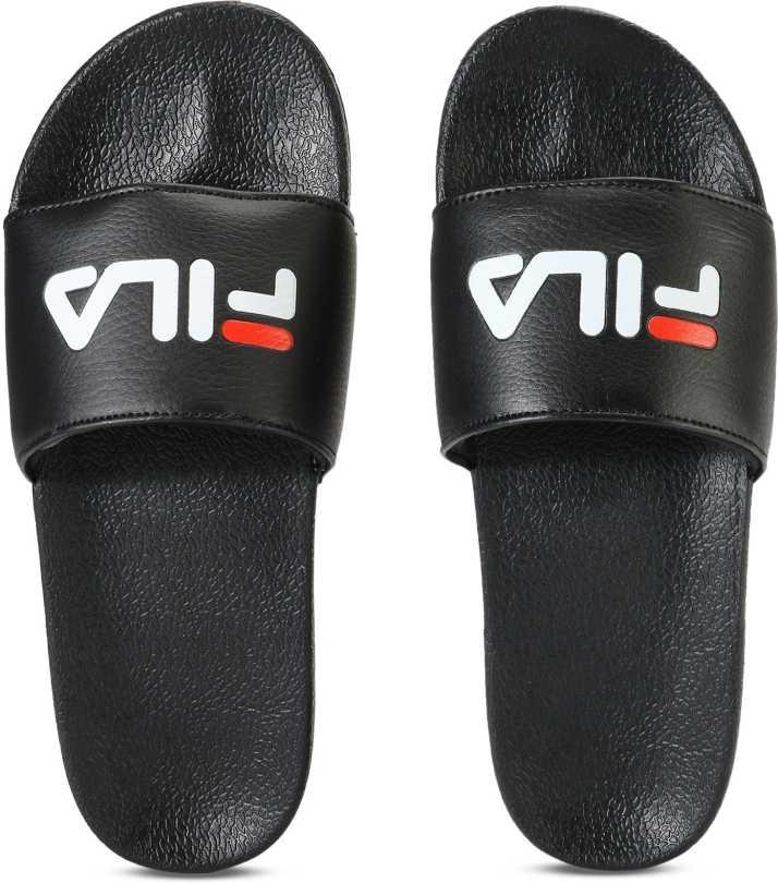 9af2b063d Fila FL SLIDE Flip Flops - Buy BLK Color Fila FL SLIDE Flip Flops Online at  Best Price - Shop Online for Footwears in India