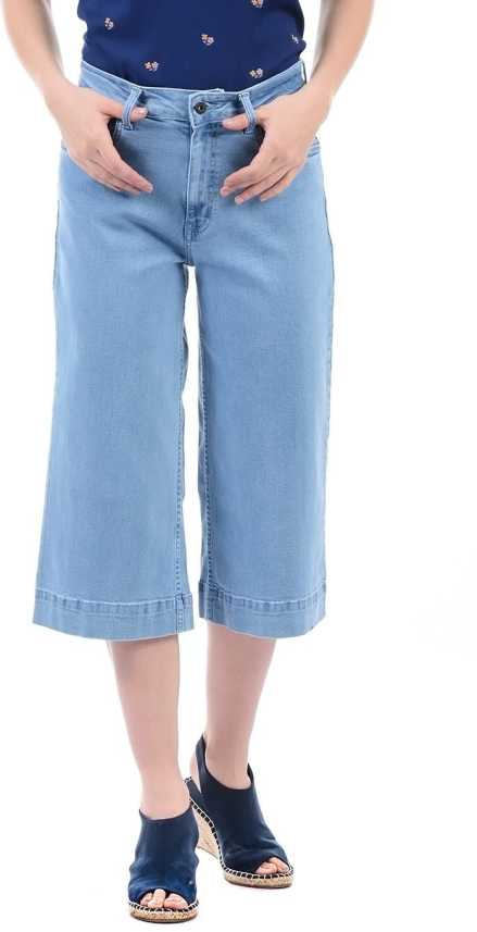 Pepe Jeans Regular Fit Women Blue Trousers Buy Pepe Jeans