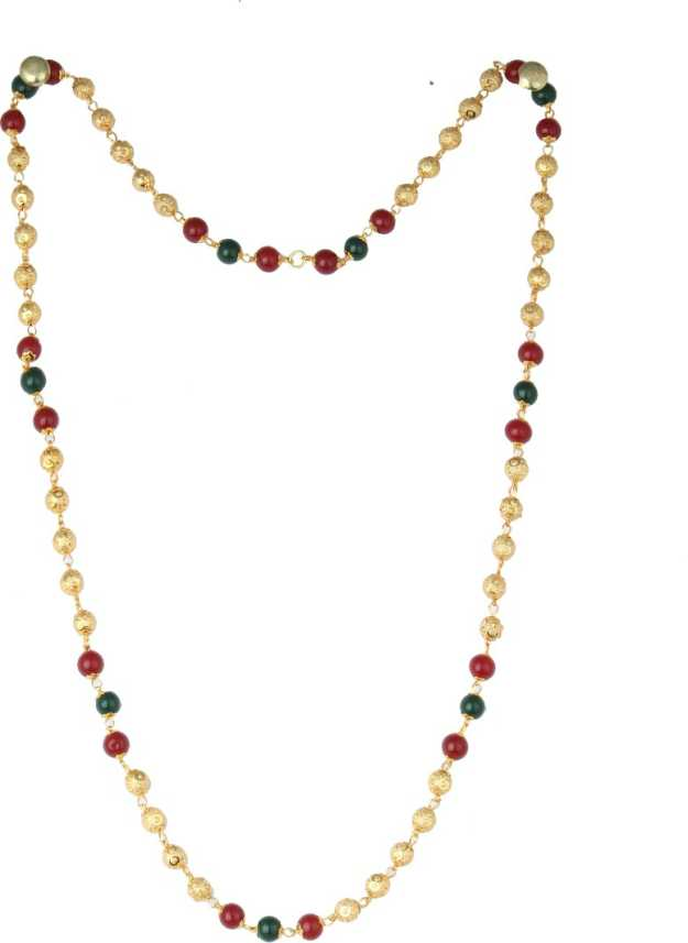 Waama Jewels Micro Gold Plated Neck Chain For Women Gold Tone 24 Inch Long Designer Pearl Gold Plated Plated Brass Chain Price In India Buy Waama Jewels Micro Gold Plated Neck Chain