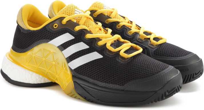 ADIDAS BARRICADE 2017 BOOST Tennis Shoes For Men - Buy CBLACK ...