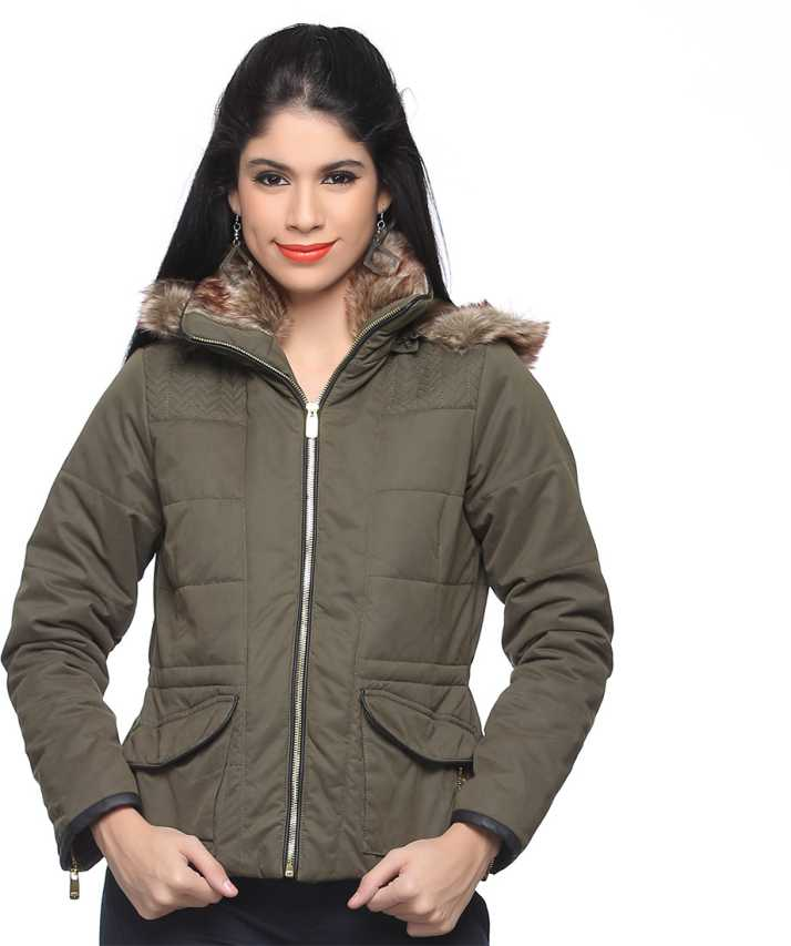 44a77dfa371 Madame Full Sleeve Solid Women s Jacket - Buy Olive Madame Full Sleeve  Solid Women s Jacket Online at Best Prices in India