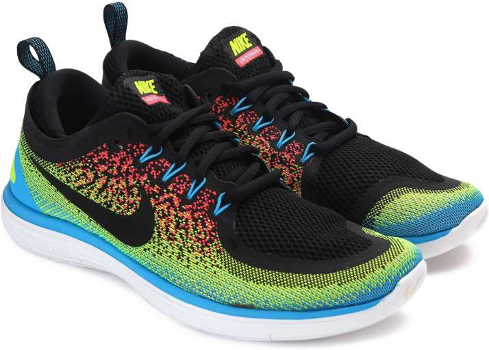 Comunista punto final materno  Nike FREE RN DISTANCE 2 Running Shoes For Men - Buy VOLT/BLACK-HOT  PUNCH-CHLORINE BLUE Color Nike FREE RN DISTANCE 2 Running Shoes For Men  Online at Best Price - Shop Online for