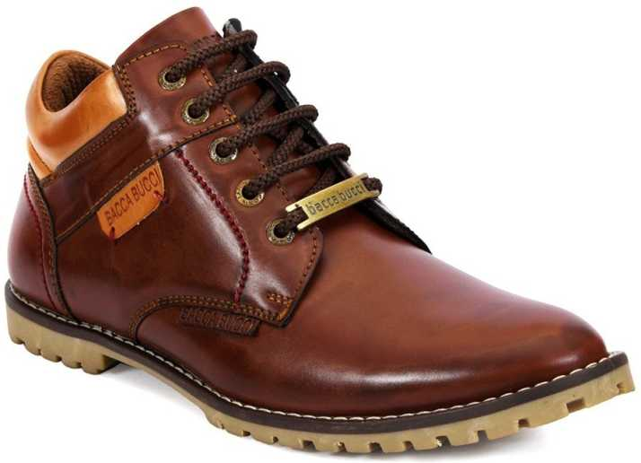 free shipping 9fbc2 1d0aa Bacca Bucci Men's Earthkeepers Rugged/Light Weight/Bikers/Combat High top  Tuff Boots For Men