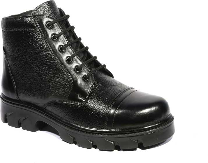 online store be3c6 bac9e ICEBULL LEATHER DM SHOES Boots For Men (Black)