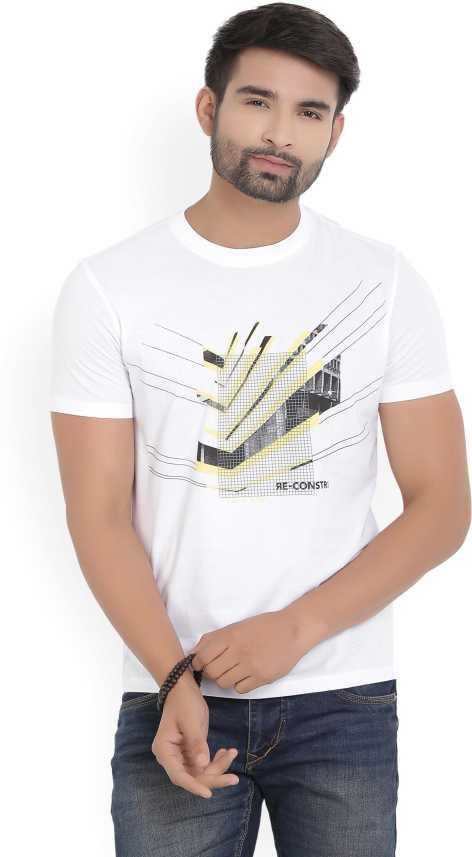 6839a49ef Van Heusen Sport Printed Men's Round Neck White T-Shirt - Buy Red Van Heusen  Sport Printed Men's Round Neck White T-Shirt Online at Best Prices in India  ...