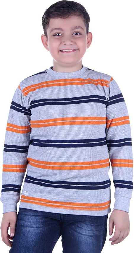Grand Derby Boys Striped Wool Blend T Shirt