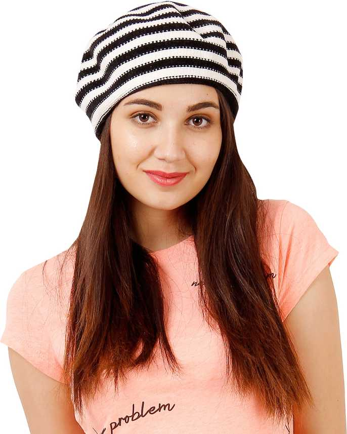 e5a517f6a25e4 FabSeasons Knitted Fancy Beret Caps   Hat for Girls   Women Cap - Buy  FabSeasons Knitted Fancy Beret Caps   Hat for Girls   Women Cap Online at  Best Prices ...