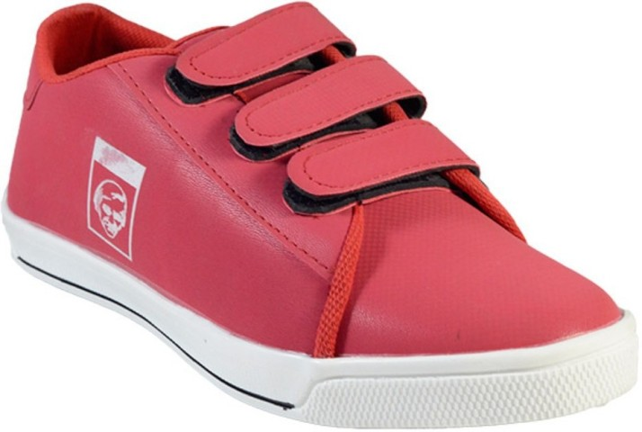 MarcoUno RED COLOUR VELCRO CASUAL SHOES