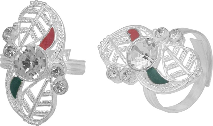 Floater Earrings with Cubic Zirconia in Sterling Silver-Plated Brass