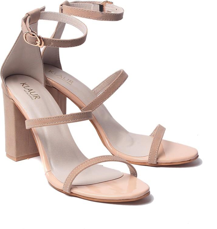 Klaur Melbourne Women Beige Heels - Buy