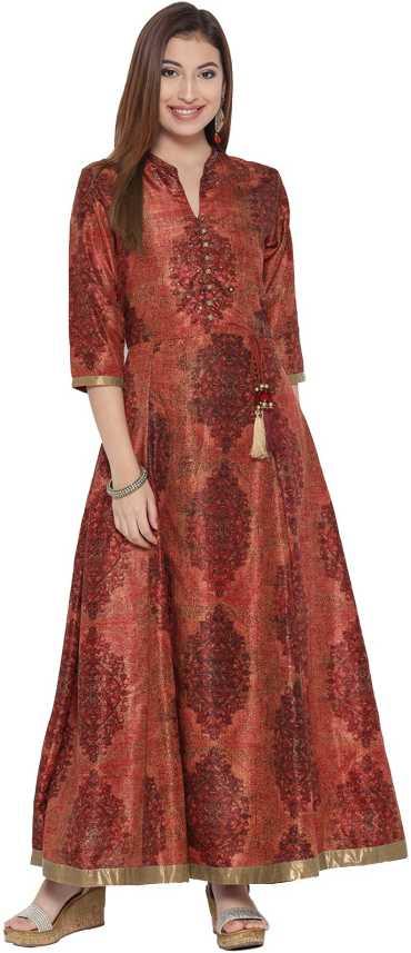 SHREE Women Maxi Brown Dress - Buy SHREE Women Maxi Brown Dress Online at  Best Prices in India   Flipkart.com