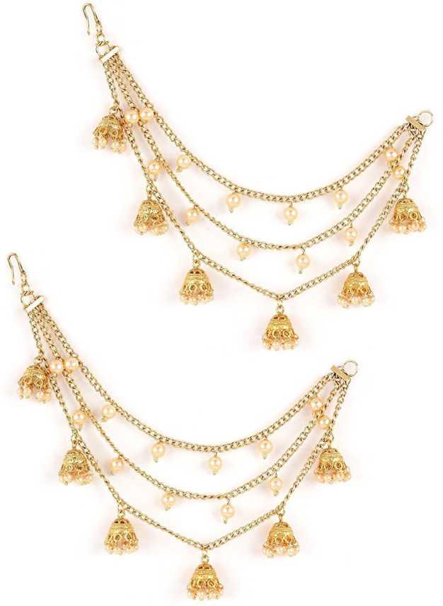 Flipkart Com Buy Shining Diva Gold Plated Bahubali Pearl Chain