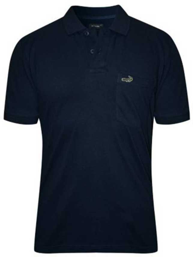 db0b2ad48e63 CROCODILE Solid Men's Polo Neck Dark Blue T-Shirt - Buy NAVY ...
