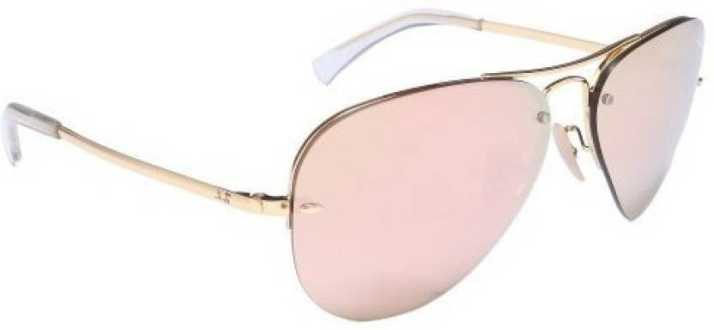 f72b0498daab0 Buy Ray-Ban Aviator Sunglasses Pink For Men Online   Best Prices in India    Flipkart.com