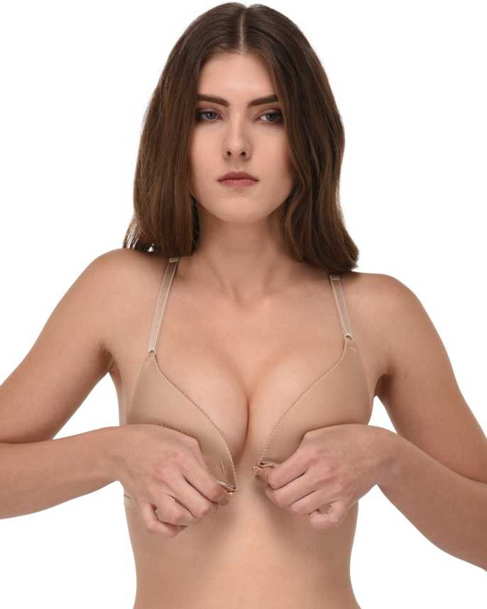 804ce9afa9955 Quttos FRONT OPEN BACKLESS BRA Women Push-up Lightly Padded Bra - Buy Beige  Quttos FRONT OPEN BACKLESS BRA Women Push-up Lightly Padded Bra Online at  Best ...
