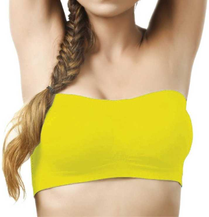 4ac06b67a4 Yoga Design Lab ™Sportoni Women s Tube Lightly Padded Bra (Yellow). Special  price