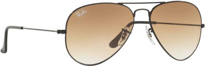 796af1e5a96 Buy Ray-Ban Aviator Sunglasses Brown For Men Online   Best Prices in India