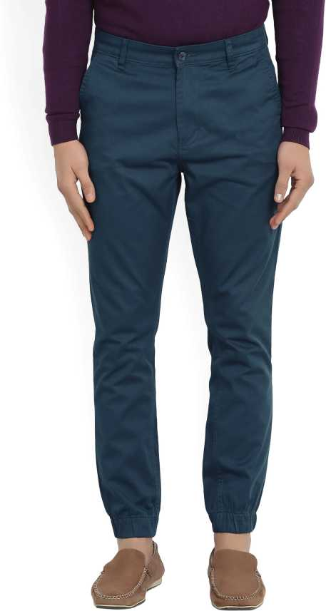 ff686765a14 Highlander Slim Fit Men s Dark Blue Trousers - Buy INDIGO BLUE Highlander  Slim Fit Men s Dark Blue Trousers Online at Best Prices in India