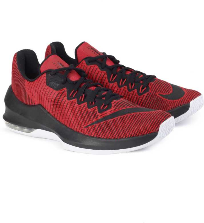 3396cec552 Nike AIR MAX INFURIATE 2 LOW Basketball Shoes For Men (Red, Black)