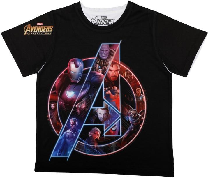 Marvel Tony Stark Industries Boys and Girls Kids Graphic T Shirts