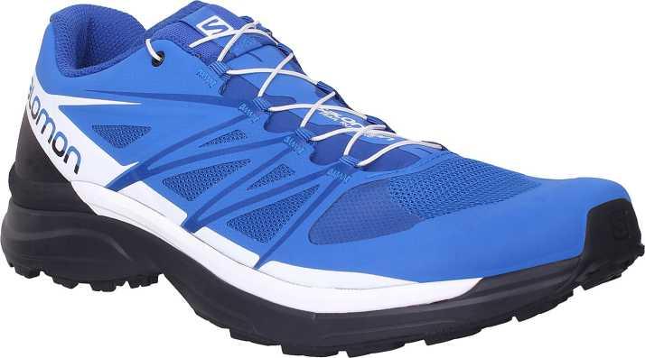 quality design 787ed 9efbc Salomon Wings Pro 3 Blue Running Shoes For Men