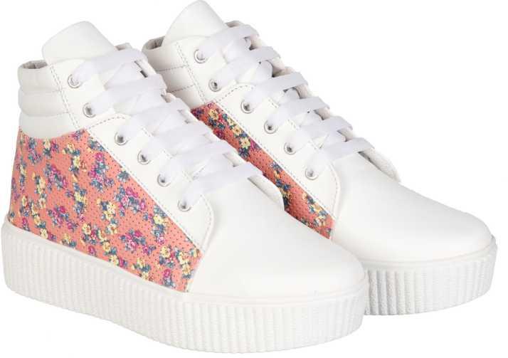 purchase cheap 9c279 e45cc NMD Comfortable Woman Long White Peach Shoe Boots For Women (Multicolor)