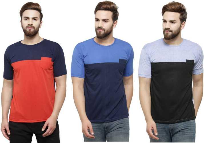 0a263ae78e9 Rico Sordi Solid Men Round Neck Multicolor T-Shirt - Buy Rico Sordi ...