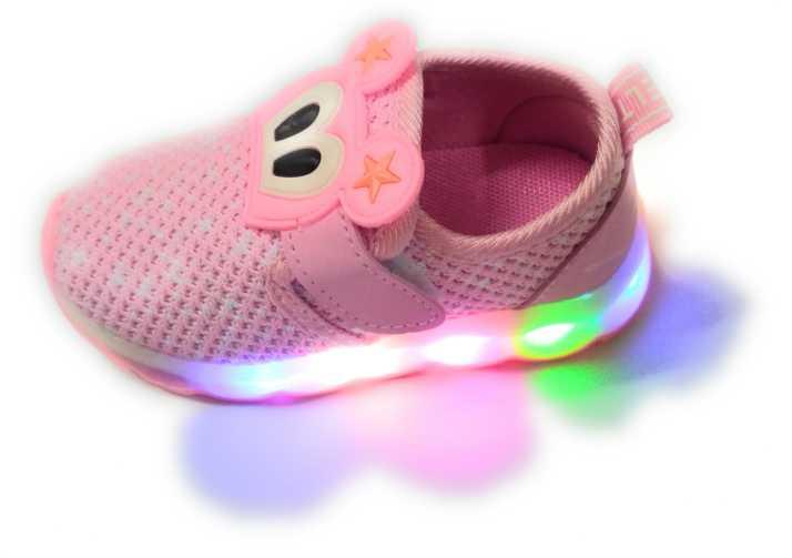 63f84c58a1c kids led light shoes Boys & Girls Velcro Mojaris Price in India ...