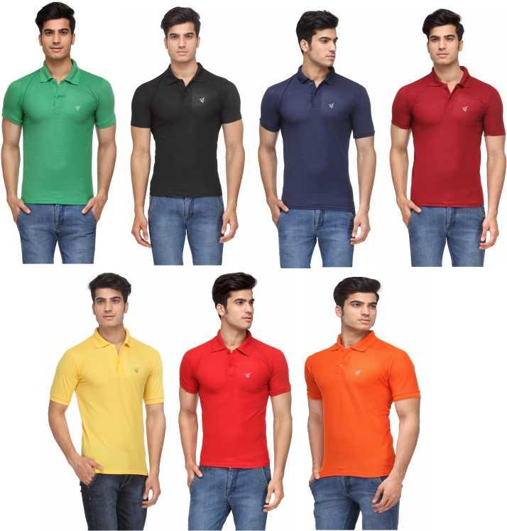 dffd8dcbae9 Rico Sordi Solid Men Polo Neck Multicolor T-Shirt - Buy Rico Sordi ...