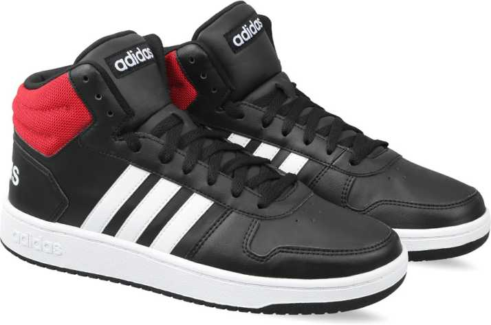 eb63778e4ea ADIDAS HOOPS 2.0 MID Basketball Shoes For Men - Buy CBLACK FTWWHT ...