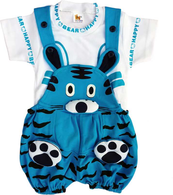 e496848a18 Victoria Kids Wear Dungaree For Boys Casual Printed Cotton Blend ...