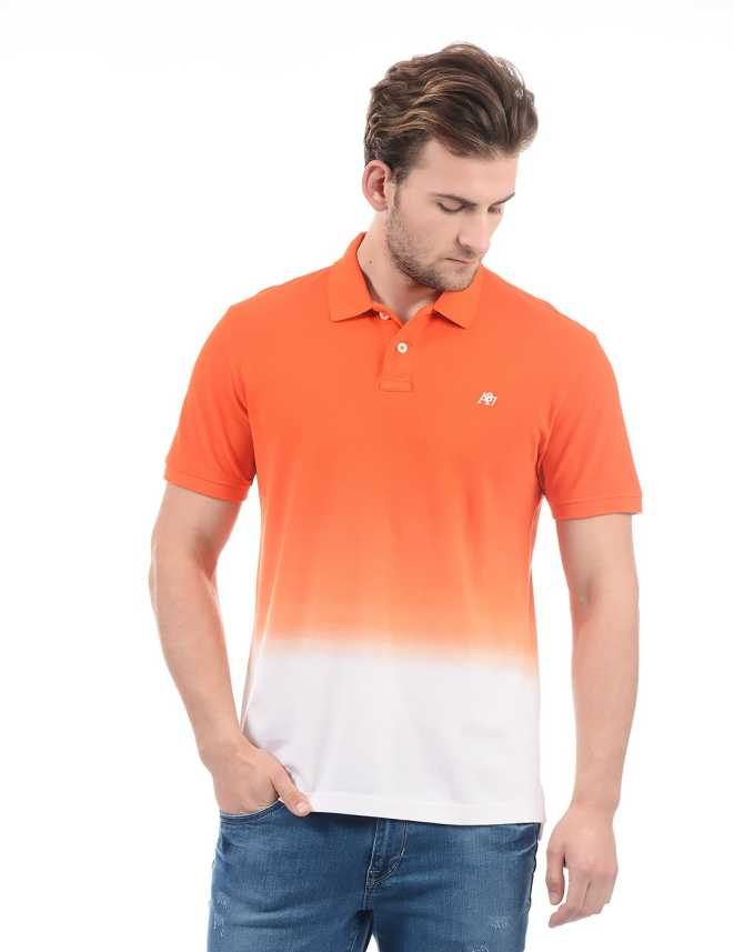 9d34e4cf Aeropostale Solid Men Polo Neck Orange T-Shirt - Buy Aeropostale Solid Men  Polo Neck Orange T-Shirt Online at Best Prices in India | Flipkart.com