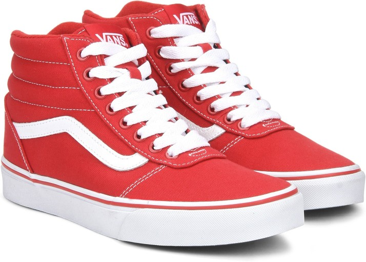 Vans Ward Hi Sneakers For Men - Buy Red