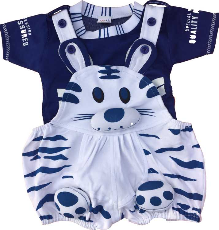98c32fa4da1c3 Icable Dungaree For Boys & Girls Casual Animal Print Cotton Blend