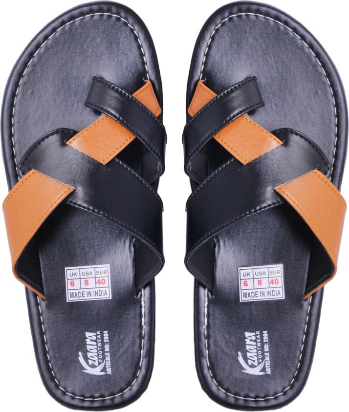 Kzaara Men Black Sandals - Buy Kzaara