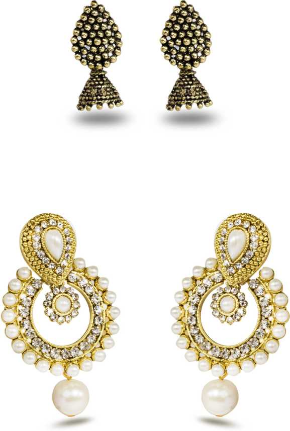 7a8bb217ea040 Flipkart.com - Buy Three Shades Combo Set of 2 Beautiful Earring ...