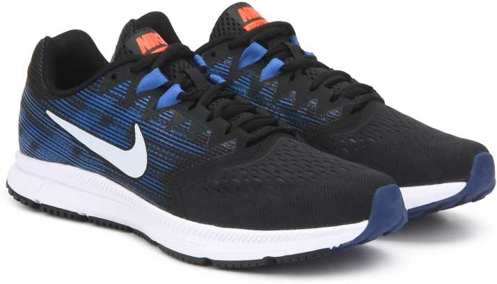 bdbd5fd1f34 Nike ZOOM SPAN 2 Running Shoes For Men - Buy BLACK WHITE-DEEP ROYAL ...