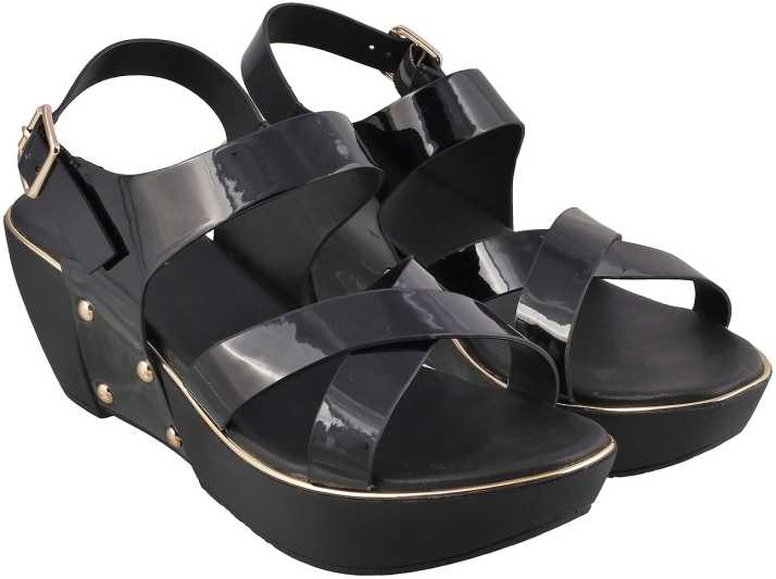 9d3c76e768 Mochi Women 34,Black Wedges - Buy Mochi Women 34,Black Wedges Online at Best  Price - Shop Online for Footwears in India | Flipkart.com