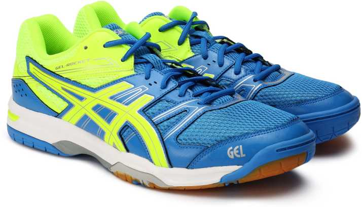 Barcelona Consulado Mucama  Asics GEL - ROCKET 7 Running Shoes For Men - Buy ELEC BL/SAFETY YELLOW/SIL  Color Asics GEL - ROCKET 7 Running Shoes For Men Online at Best Price -  Shop Online for